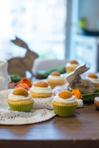 Ostern muffins spiegeleier muffins cupcakes zitronen muffins aprikose