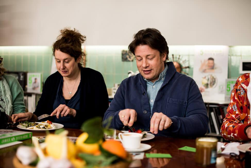Beim Frühstück mit Jamie Oliver