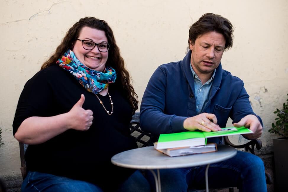 Jamie Oliver signiert Kochbuch