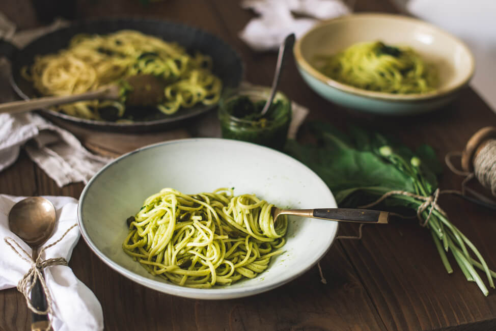 Bärlauch Pesto mit Pistazien