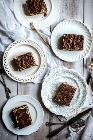 donauwelle kuchen blechkuchen rhabarber schokolade marmorkuchen donau welle schnitte