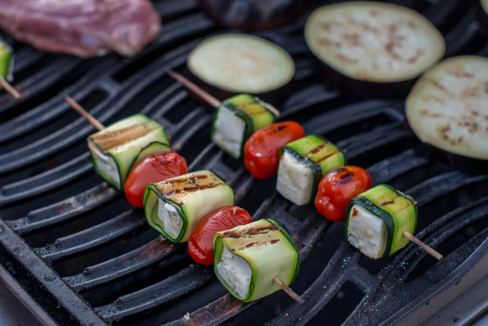 zucchini feta spieße vegetarisch grillen bbq vegetarisch veggie gemüse