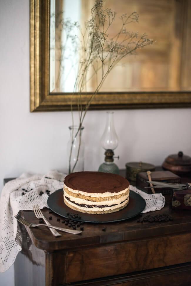 tiramisu torte kaffee bisquit mascarpone sahne creme