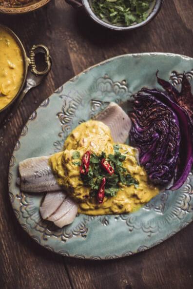 matjes currysauce rotkohl koriander chili limette hering