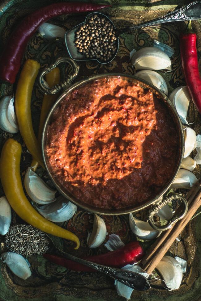 Harissa Gewürzpaste selbst machen vegan scharf afrikanisch gewürze