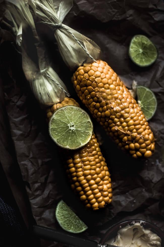 maiskolben limette salt butter gekocht mais gemüse beilage grill bbq