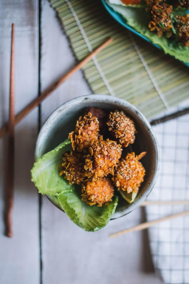 asia thai chicken balls frittierten bällchen sweet chili sauce fish cakes thailand thaifood streetfood market nürnberg tina