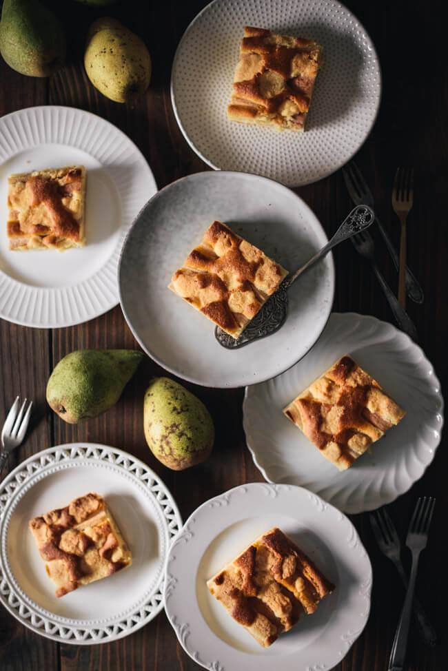 Birnen Streuselkuchen Blechkuchen einfach