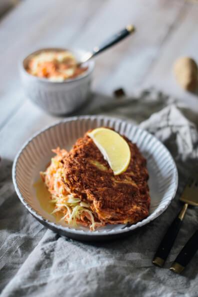 etepetete bio nachhaltig lebensmittelverschwendung misfits steckrübe schnitzel veggie coleslaw
