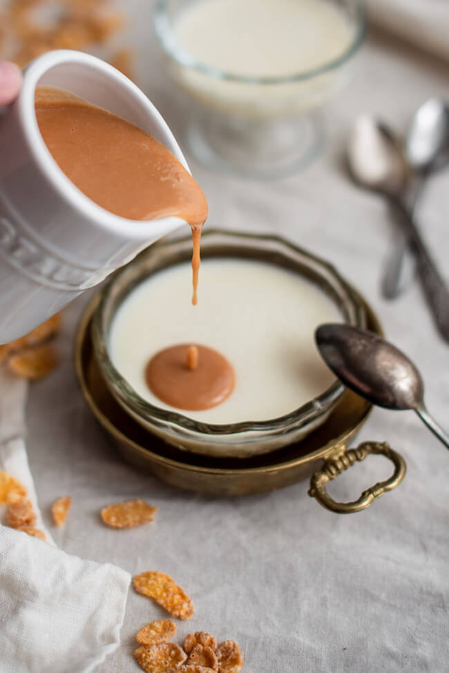 Cereal Milk Panna Cotta Cornflakes Milch Christina Tosi Chefs Table dulce de leche sauce