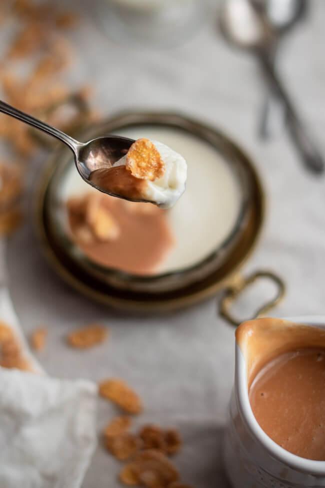 Cereal Milk Panna Cotta Cornflakes Milch Christina Tosi Chefs Table dulce de leche