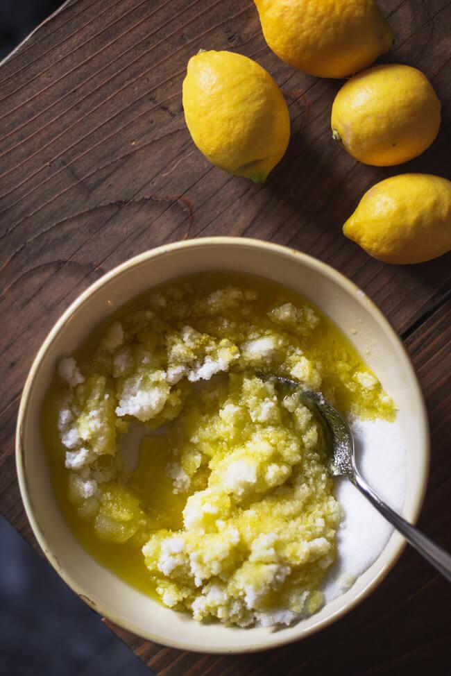 Küchenpeeling gegen zwiebelgeruch zitrone olivenöl knoblauchgeruch küchenseife diy basteln peeling selber machen nachhaltig