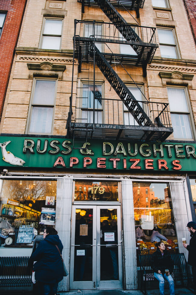 New York City NYC russ and daughters