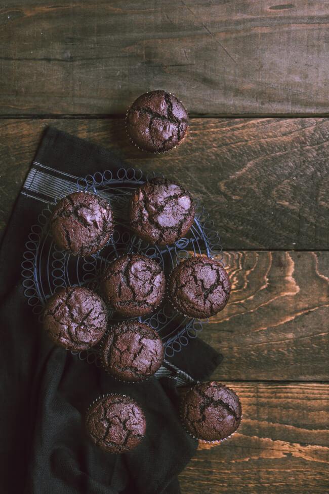 Double Chocolate Chip Muffins Schokolade Schokoholic Cupcakes Kuchen einfach lactosefrei einfach schnell saftig