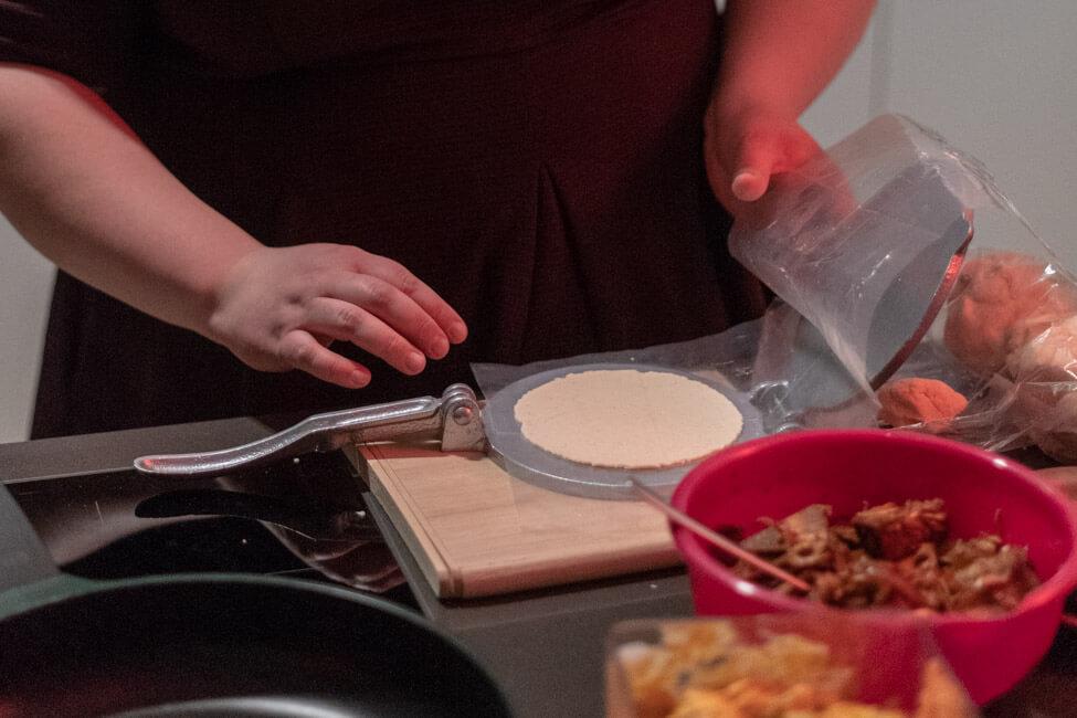 maistortilla torilla tacos fladen maxikanisch tortillapresse