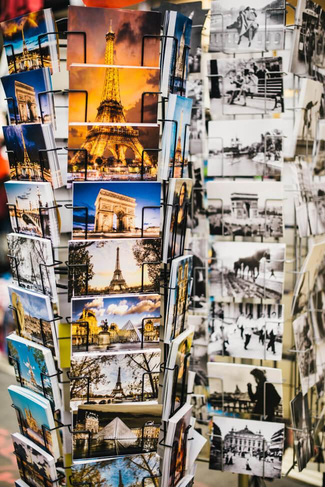 Paris Postkarten Ansicht