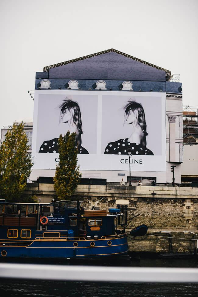 paris celine mode anzeige plakat