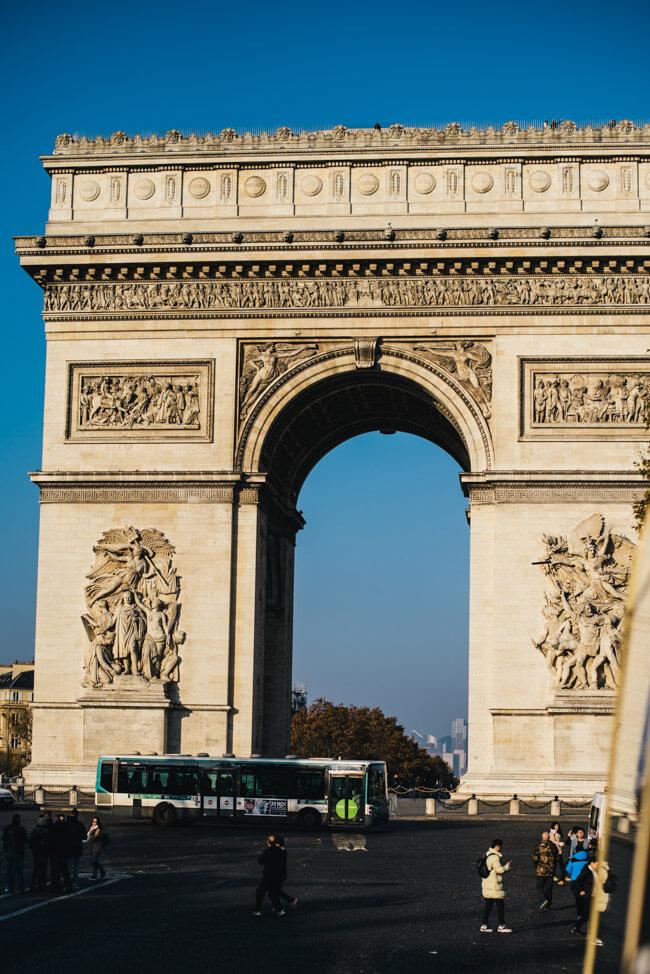 paris Arc de Triomphe de l'Étoile triumphbogen Avenue des Champs-Élysées