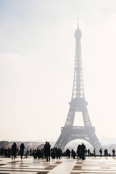 paris eiffelturm la tour eiffel sonnenschein