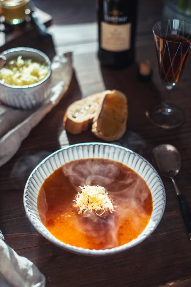 soupe de poisson rouille knoblauchbaguette fischsuppe suppe französisch südfranzösisch südfrankreich frankreich französische küche sherry slowfood