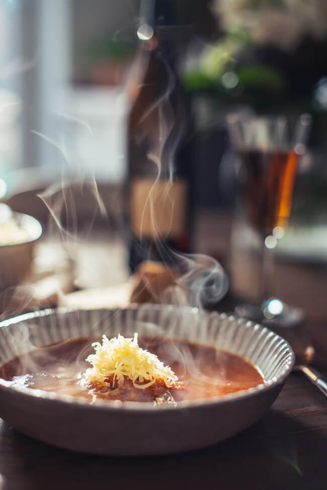 Fischsuppe | Soupe de Poisson mit Rouille und Knoblauchbaguette