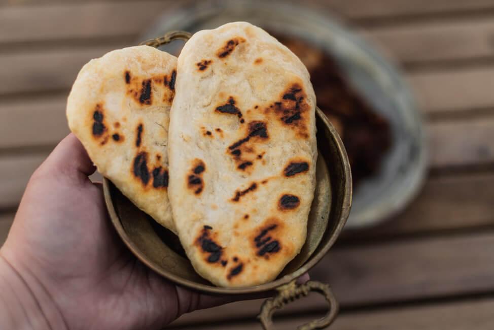 Naan Brot indisch einfach Fladenbrot