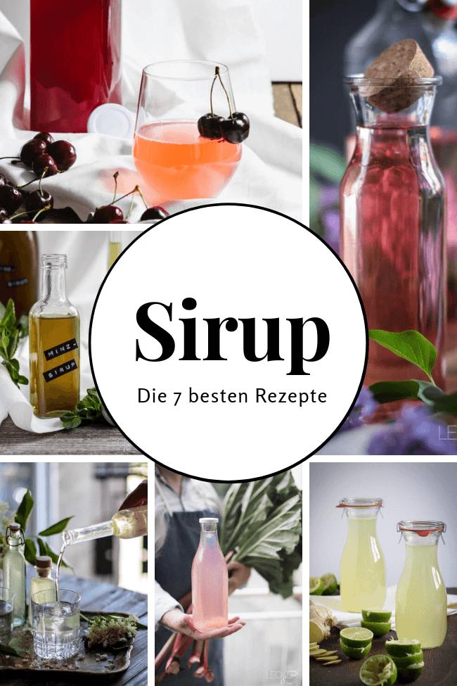 Sirup die 7 besten Rezepte Rhabarber Kirsch Minze Ingwer Limette Flieder Einkochen Limonade