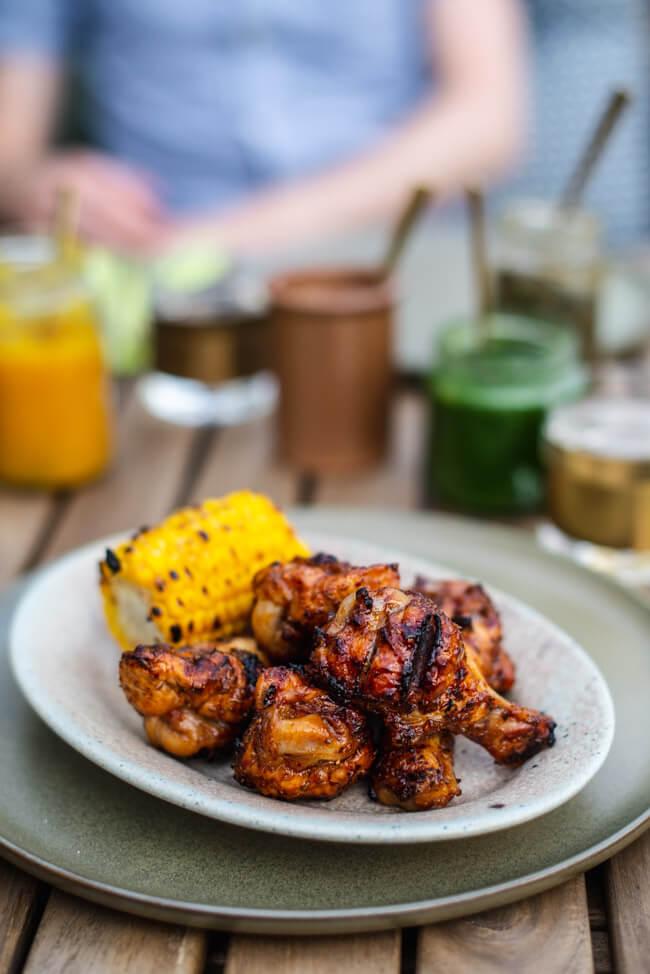 BBQ Chicken Wings Hühnerflügel Jamie Oliver Sauce Barbecue Grillen Sommer