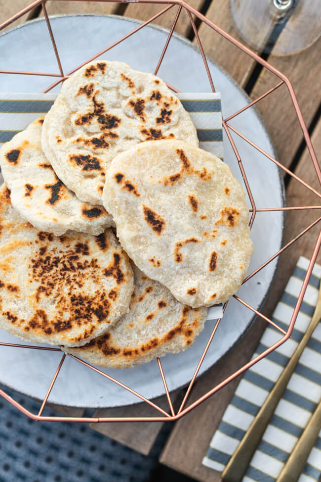 Coconut Roti Indisch Asiatisch Sri Lanka Fladenbrot Pfanne einfach schnell Feierabend vegan lactosefrei