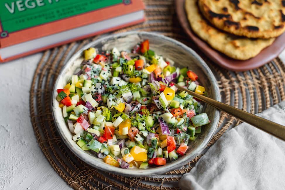 Berggipfel Salat | Indisch vegetarisch