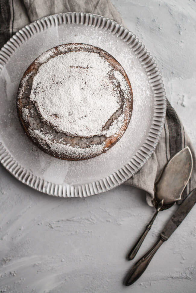 Zebrakuchen Zebra Kuchen Marmorkuchen Einfach lecker saftig Rührkuchen Schokolade Kakao Puderzucker Vanille