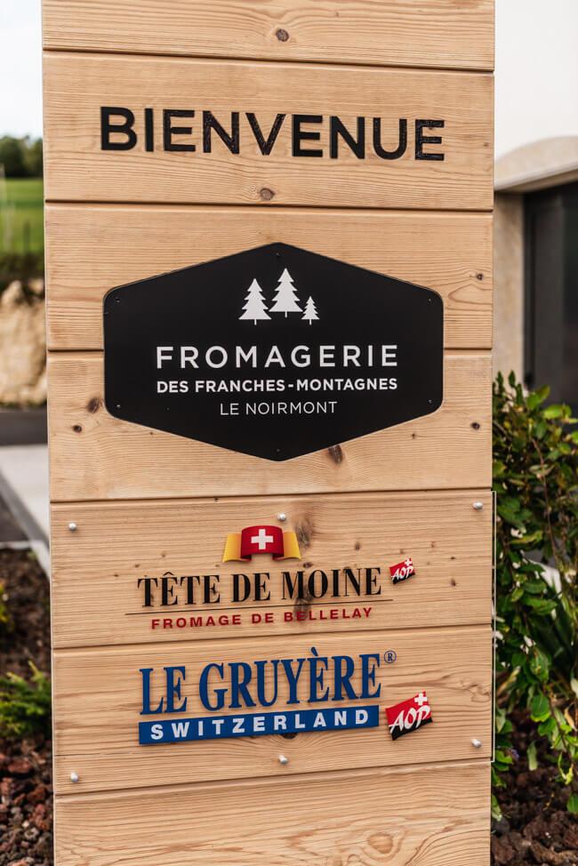 Fomagerie des Franches-Montagnes Tête de Moine Le Gruyére Käserei