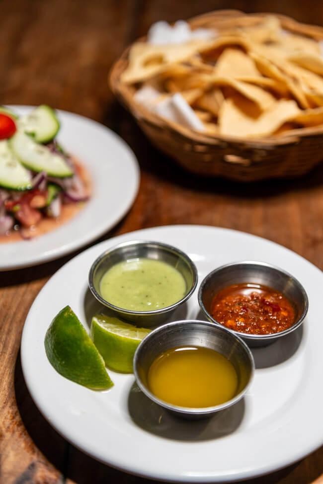 Viva Zapata Isla Holbox Restaurant Nachos mit Dip