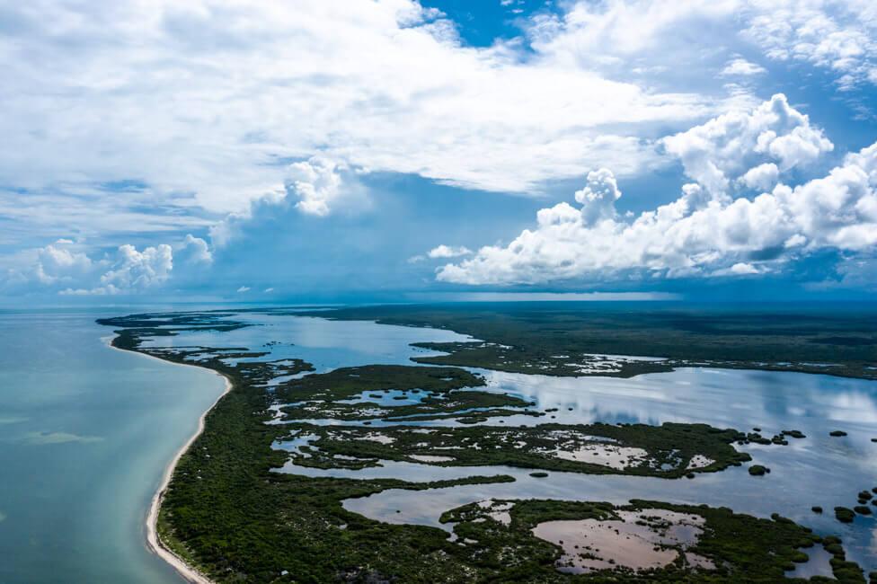 Isla Holbox Mexiko türkisblaues Meer Karibik Cabo Catoche Bootstour Ausflug Lagune Conil