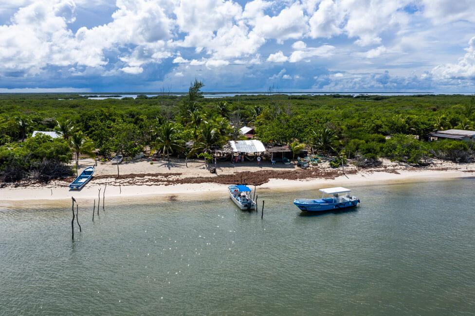 Isla Holbox Mexiko türkisblaues Meer Karibik Cabo Catoche Bootstour Ausflug Strand