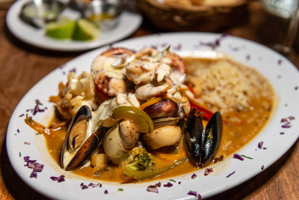 Viva Zapata Isla Holbox Restaurant Seafood Pfanne