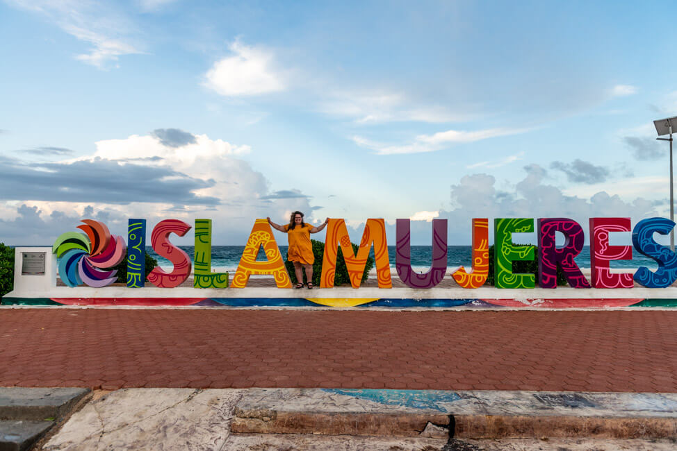 Isla Mujeres Schriftzug