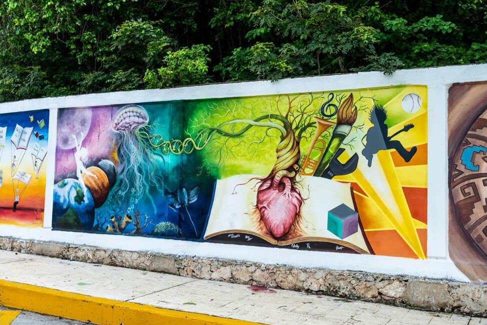 Mexiko Isla Mujeres Karibik Insel Streetart