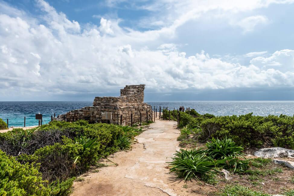 Mexiko Isla Mujeres Karibik Insel Punta Sur Meer türkisblau Landschaftsfotografie Küste Ruinen