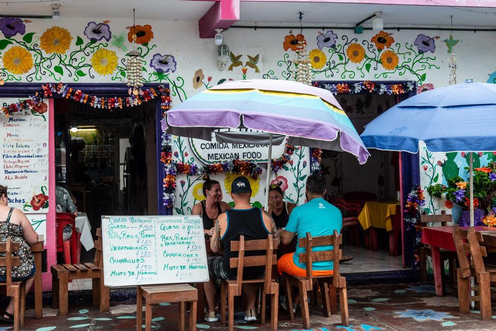 Mexiko Isla Mujeres Karibik Insel Restaurant La Lomita Comida Mexicana Mexican Food authentische Küche