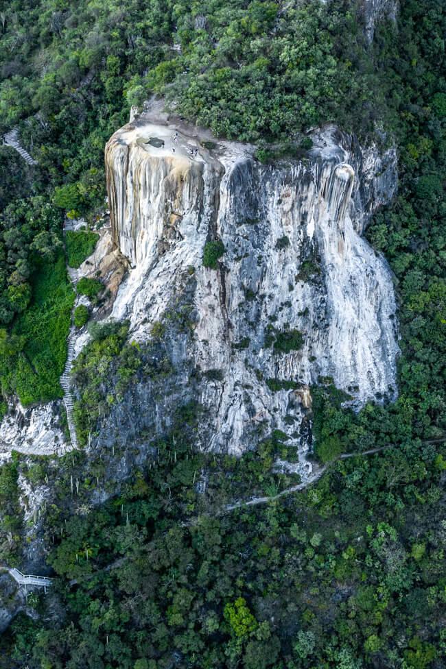 Oaxaca de Juaréz Mexiko Hierve el Agua Wasserfall Sehenswürdigkeit natürlicher Pool heiße Quellen