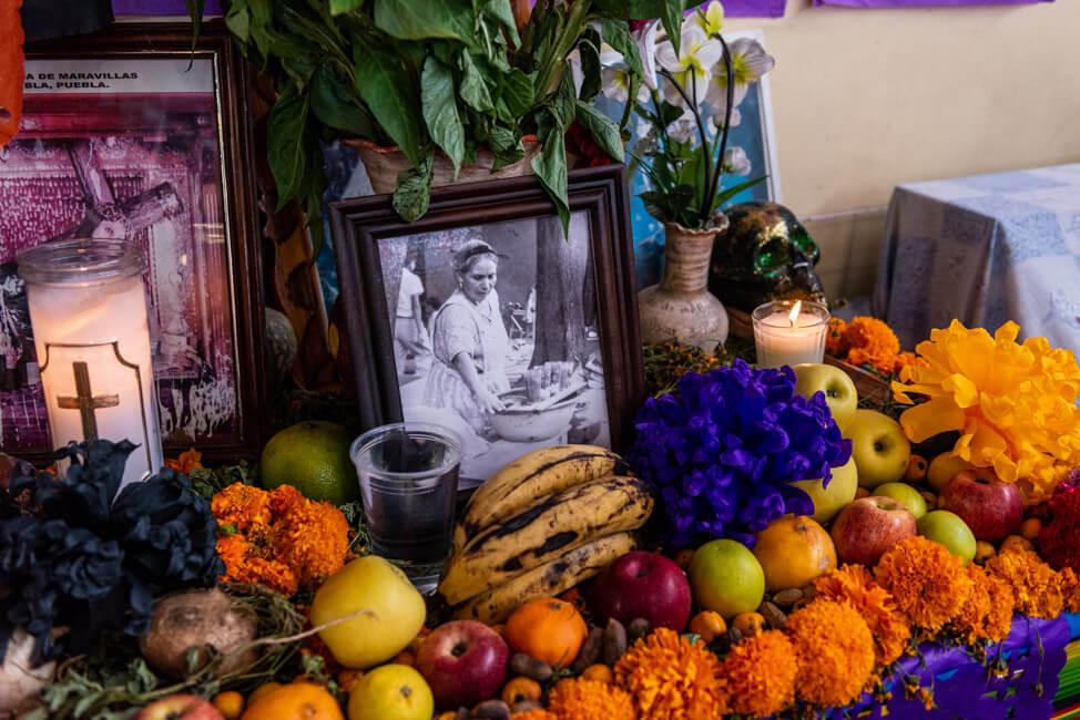 Oaxaca de Juaréz Mexiko Mercado de la Merced Ofrenda