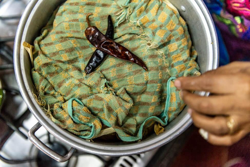 Oaxaca de Juaréz Mexiko Alma de mi Tierra Kochkurs cooking class Nora Tamales