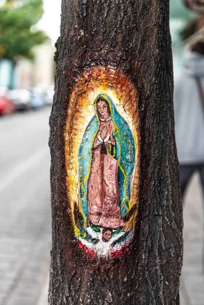 Oaxaca de Juaréz Mexiko Streetart Baum Maria