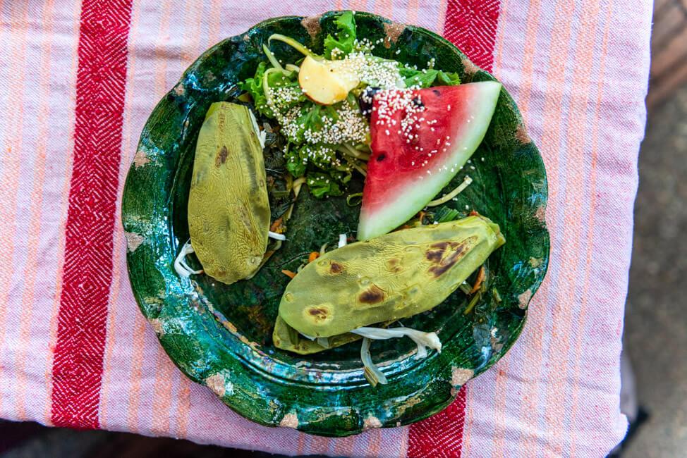 Oaxaca de Juaréz Mexiko Chocolate and Maize Tour El Pochote Organic Market Nopales