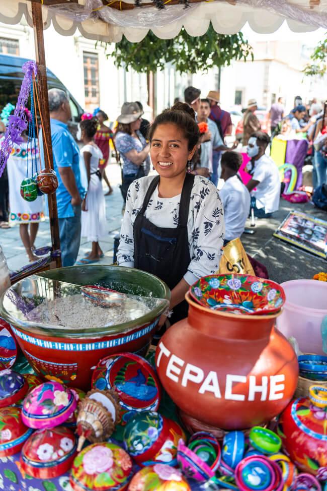 Oaxaca de Juaréz Mexiko Chocolate and Maize Tour Tejate