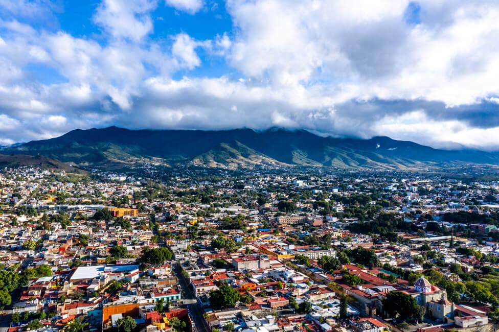 Oaxaca de Juaréz Mexiko Drohnenaufnahme von oben