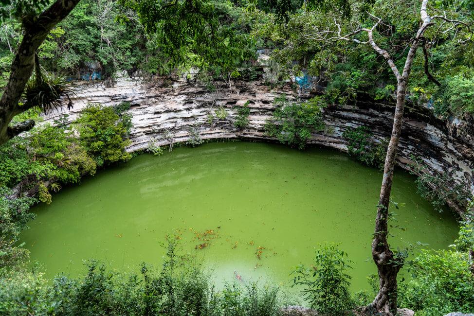 Chichén Itza Ruinen Mexiko Yucatan Cenote Sagrado