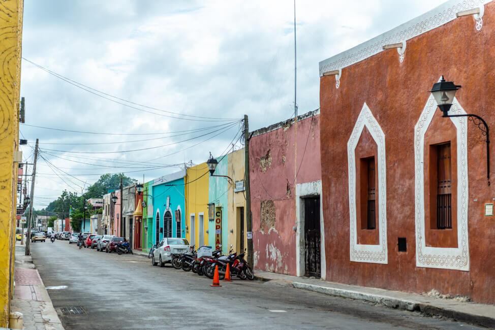 Valladolid Straßen bunte Häuser