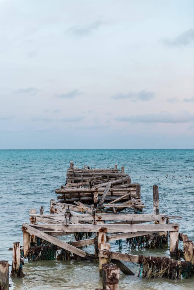 Punta Allen Sian Ka´an Nationalpark Meer Steg